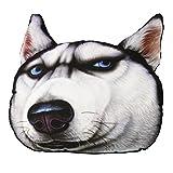 Vulcan-x 3D Cute Animals Husky Pet Dog Auto Headrest Pillow Three-Dimensional Head Restraints of Automobile Seat Large Size