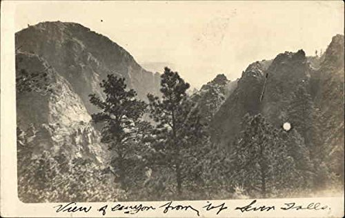 View of Canyon From Top Seven Falls Colorado Springs, Colorado Original Vintage -