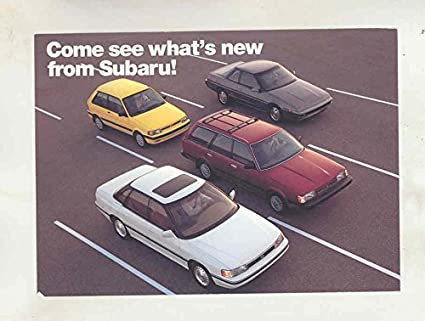 1991 Subaru Full Line Large Factory Postcard at Amazons Entertainment Collectibles Store