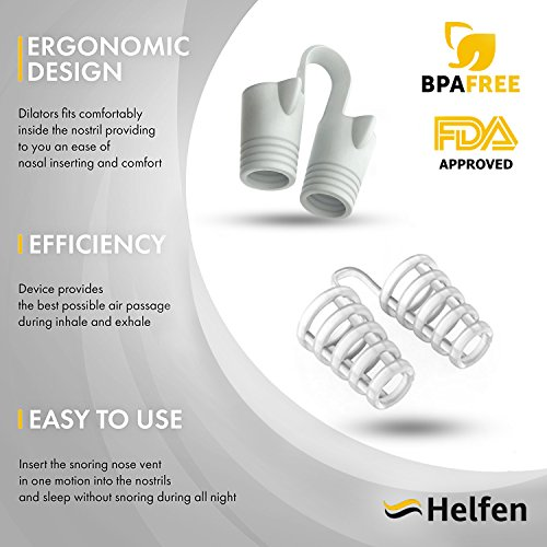 Anti Snoring Devices - Snoring Solution - Snore Stopper Set - Anti Snoring Solutions - 8 Anti Snoring Nose Vents - Anti Snoring Device- Snoring Stopper Nasal Dilators (Clear) by Helfen (Image #2)