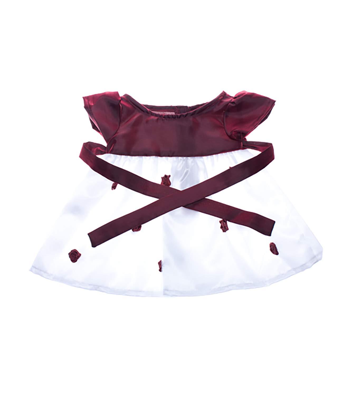 Burgundy & weiß Kleid, Kleidung für, Baujahr Teddy Bär B004RG7BF0 Stoffspielzeug Bekannt für seine gute Qualität | Treten Sie ein in die Welt der Spielzeuge und finden Sie eine Quelle des Glücks