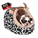 CUPETS Pet House for Cat Dog with Warm Pet Bed Dairy Cattle Style Cave Shape Portable Indoor in Winter Pet Cave