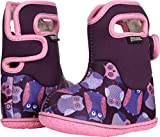 Bogs Baby Owls Snow Boot, Purple/Multi, 7 M US Toddler