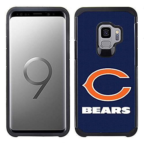 Prime Brands Group Textured Team Color Cell Phone Case for Samsung Galaxy S9 - NFL Licensed Chicago Bears