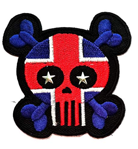 PP Patch Baby Skull Ireland Flag Skull Cross X Cartoon Patch Dead Zombie Halloween Skull Skeleton Sew Iron on Embroidered Patches Decoration for Backpacks Bags T-Shirt Clothes Jackets Jeans Hat -