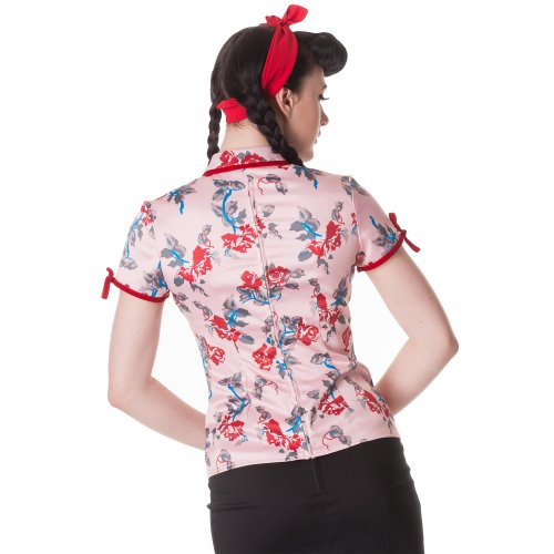 Hell Bunny - Camisas - para mujer Rosa