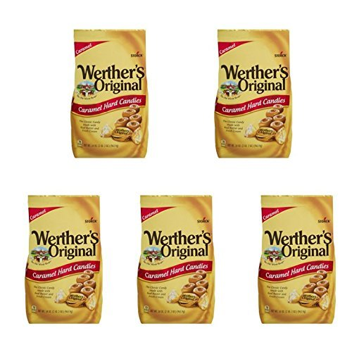Werther's Original Caramel Hard Candy, 34.0-Ounce Bags (Pack of 5) by  (Image #4)
