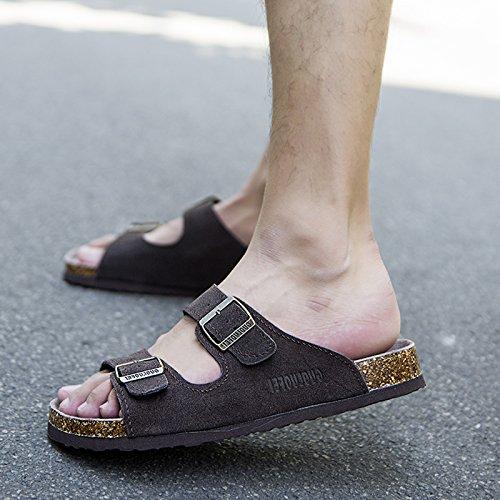pantofole tide skid ciabatte pantofole 37 anti di fankou caffè femmina Uomini cool estate numeri coppie scuro grandi qtBcFSI7w
