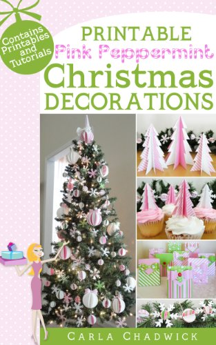 printable pink peppermint christmas decorations by chadwick carla