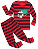 Boys Pajamas Garbage Truck 100% Cotton Toddler Pjs Kids Sleepwear Clothes Set Size5