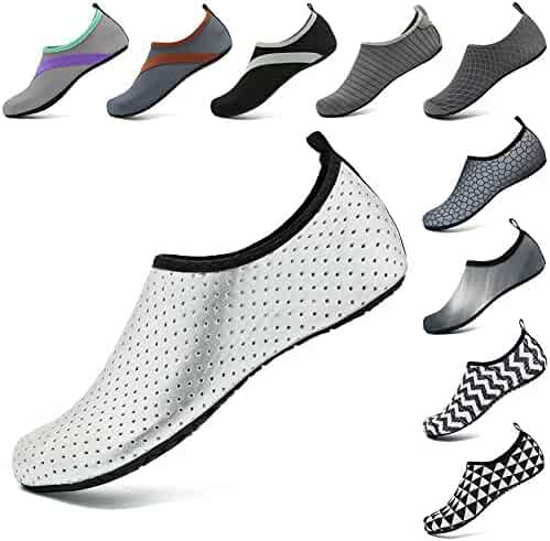 7f1469a83973 VIFUUR Unisex Quick Drying Aqua Water Shoes Pool Beach Yoga Exercise Shoes  for Men Women