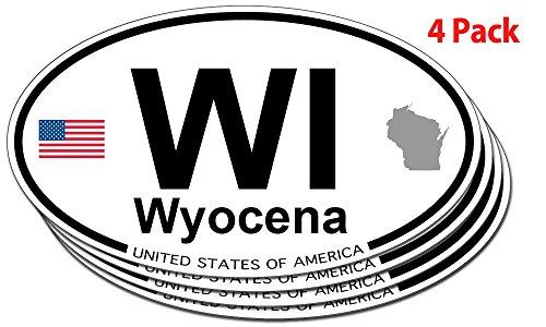 Wyocena, Wisconsin Oval Sticker - 4 pack