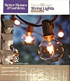 20-Count Clear Glass Globe String Lights