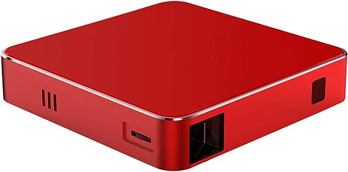 Opinión sobre Wi-Fi inalámbrico inteligente mini proyectores portátiles 3D 1080 p Full HD proyector hogar al aire libre video proyector rojo