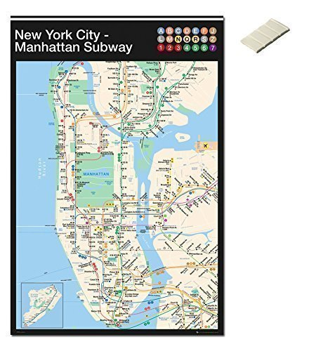 Paquete - 2 Artículos - New York Ciudad Manhattan Metro ...