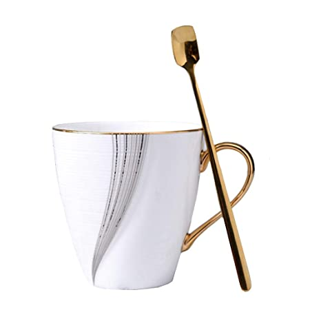 Lechera 300 ml hermosa blanco elegante con línea de oro