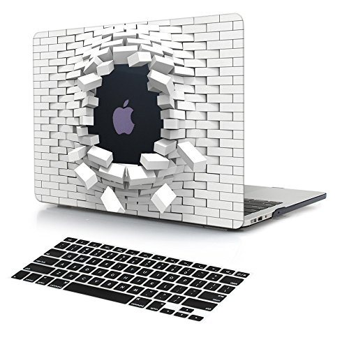 Dongke 3D Innovative Cool Blasting Design Men Protective Case Hard Cover Sleeve for Apple MacBook Air 11 inch Model A1465 / A1370 with Black Keyboard Cover