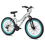 2634; Women39;s Kent KZR Mountain Bike, White/Teal