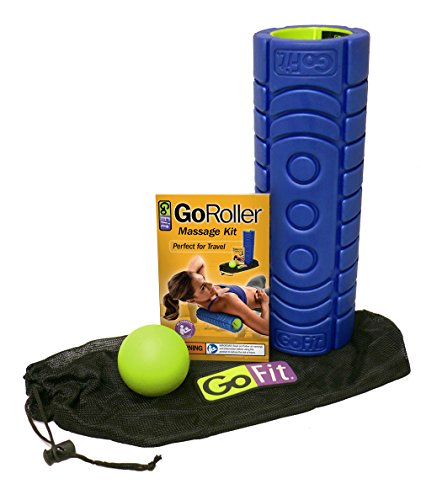 GoFit 12'' Go Roller w/Ultra Fin Core | Includes Trigger Therapy Ball by GoFit