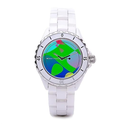Ceramica de fútbol relojes esfera relojes de comprar en línea deportes cerámica reloj: Amazon.es: Relojes