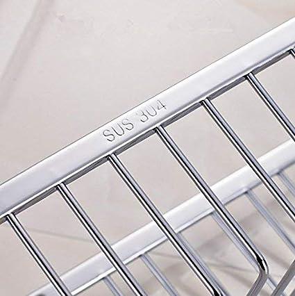da appendere antiruggine in acciaio inox SUS304 montaggio a parete HomeYoo 30 cm Mensola contenitore rettangolare per vasca da bagno,cestino portaoggetti per doccia