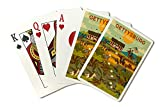 Gettysburg, Pennsylvania - National Military Park - Civil War - Geometric (Playing Card Deck - 52 Card Poker Size with Jokers)