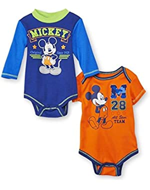 Mickey Mouse All Star Team Infants Bodysuit 2 Pack