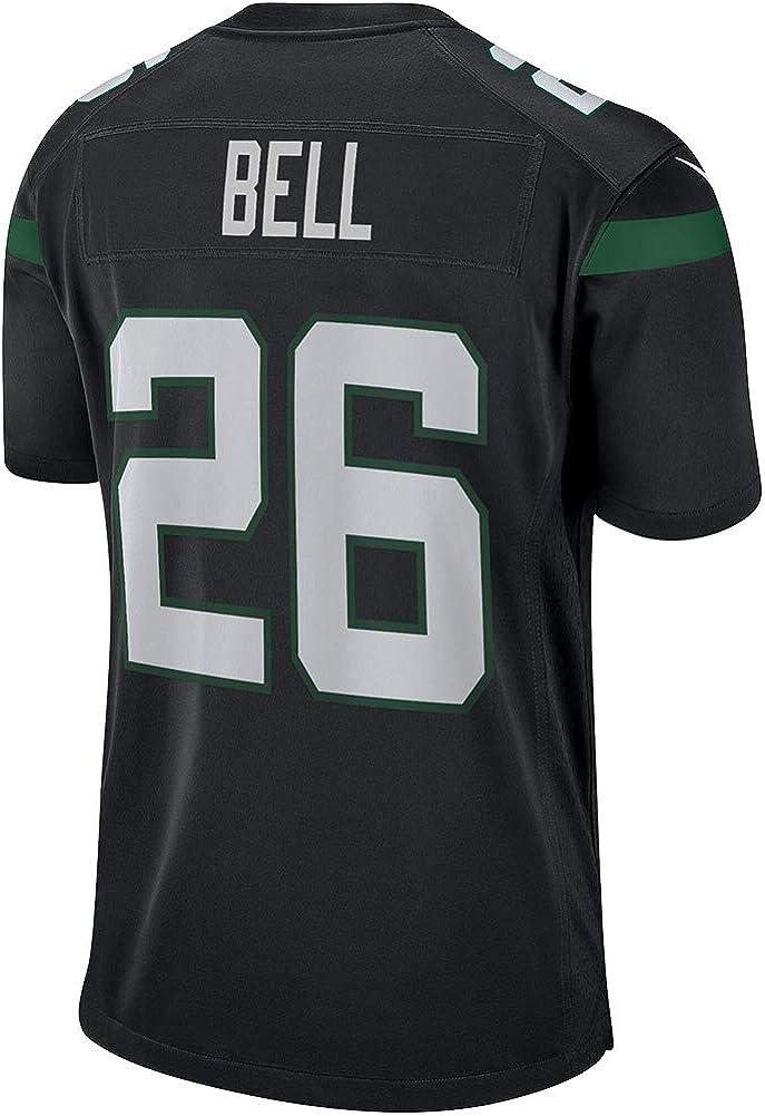 # 26 LeVeon Bell American Football Trikot New York Jets Rugby Uniform Fan Version Jugend Fitness Schnelltrocknendes T-Shirt Stickerei Trikot