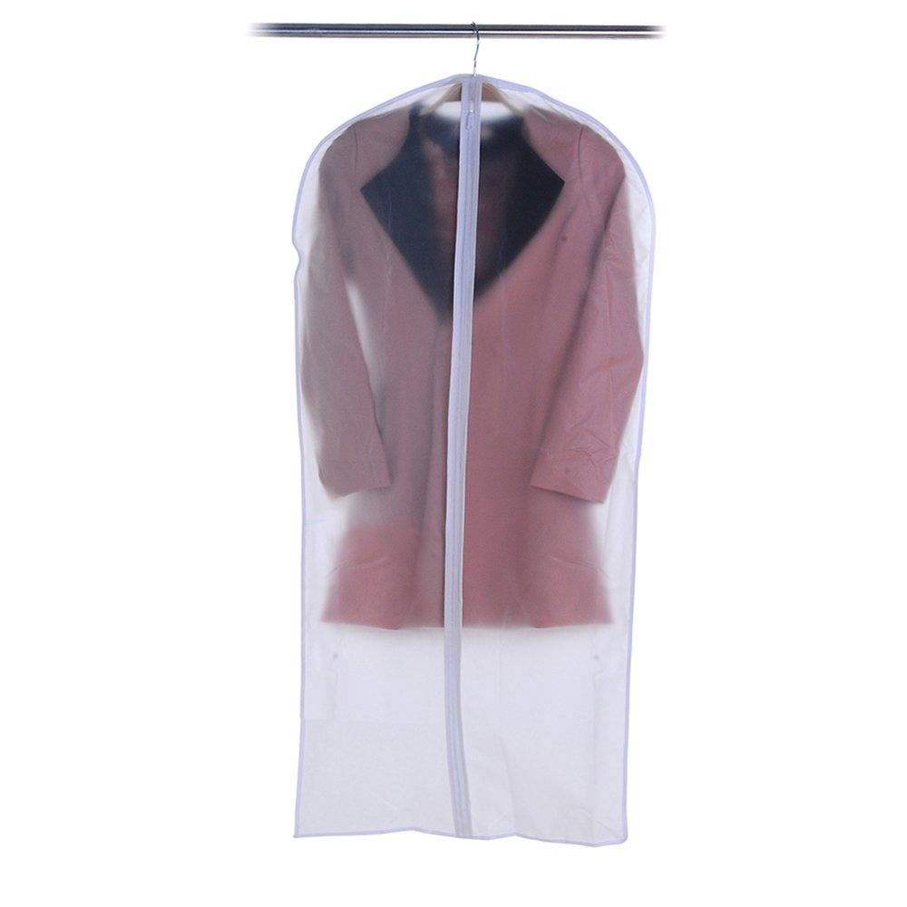 Clear Suit Garment Cover Bag Protector Full Zipper Travel Bag Closet Organizer Clothes Storage Bag Moth-proof Dust Cover for Jacket Coat Garment Suit Dress size S(4570cm)