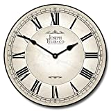 Classic White Wall Clock, Available in 8 sizes, Whisper Quiet, non-ticking offers