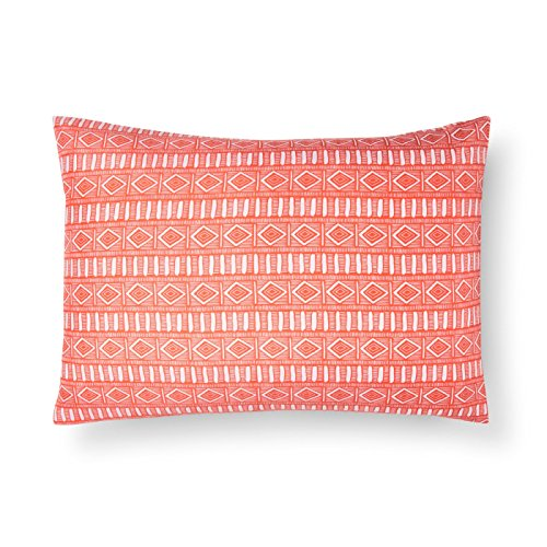 Xhilaration Coral Stripe Desert Flower Pillowcase, Set of ()