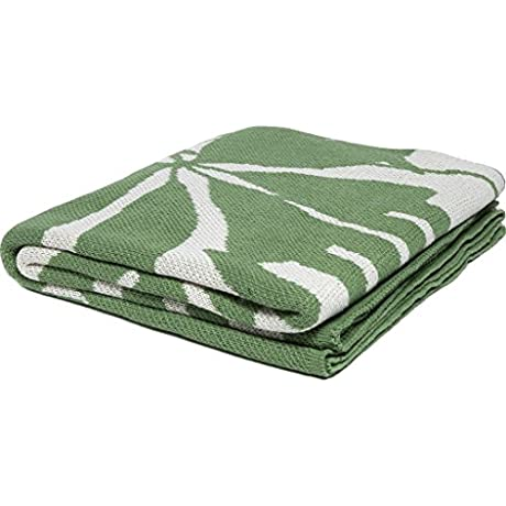 In2green Poly Flora Eco Throw Fern White