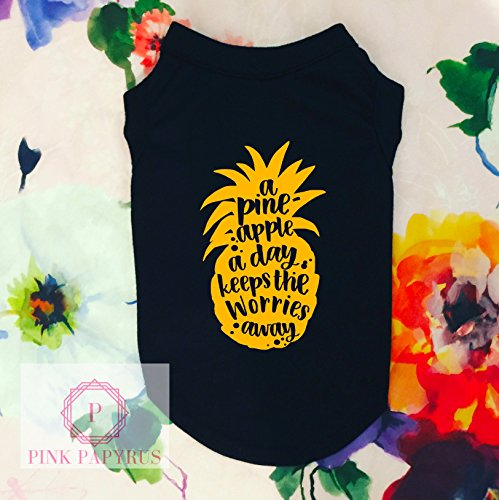 A Pineapple A Day Dog Shirt by Pink Papyrus Co.