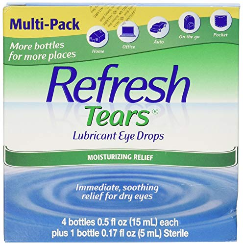 (Refresh Tears Eye Drop Lubricant 4 x 15ml Bottles + 1 Bonus 5ml Bottle)