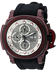 Invicta Mens Reserve Automatic Stainless Steel and Silicone Casual Watch, Color:Black (Model: 23560)