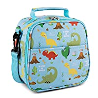 Flexzion Kids Lunch Box Insulated Snack Bag for Boys & Girls, Easy Clean Fabric Bag Perfect Size for Bento Box Hot or Cold Snacks for School Picnic Hiking Beach Backpacks