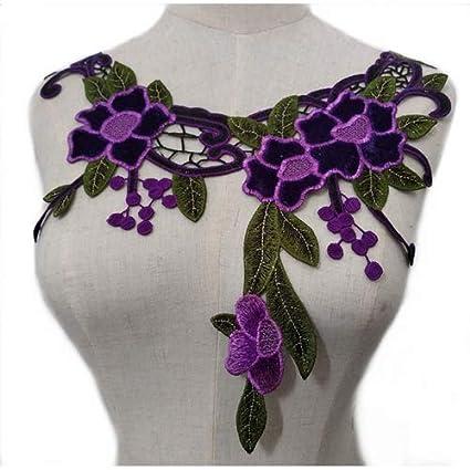 Gestickte Blumenspitze Ausschnitt Kragen Trim Kleidung Nähen Applique UUM