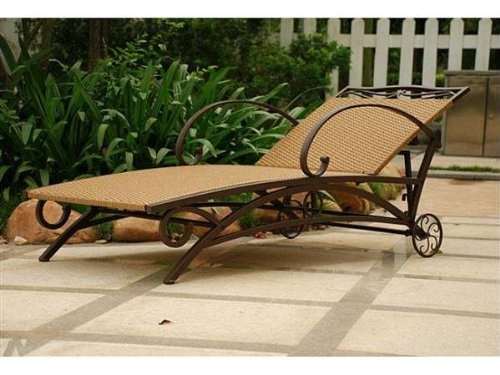 International Caravan Valencia Outdoor Wicker Patio Chaise Lounge
