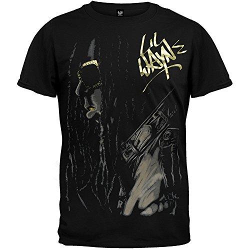 Lil Wayne Merchandise - Lil Wayne - Mens Weezy T-shirt Small Black