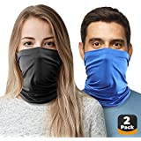 2pc Cooling Neck Gaiter Cooling Face Cover, Cooling Neck Wraps for Summer Heat, Cooling Bandana Scarf for Face & Neck Cool Baklava Mask for Hot Weather Relief Gator Wrap for Men, Women. Dog, Fishing
