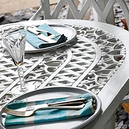 Lazy Susan - Table Ovale 136 x 81 cm Elise et 4 chaises de ...