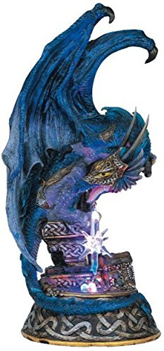 StealStreet SS-G-71225 Dragon with Lighting Led Crystal Ball Collectible Figurine Statue Model