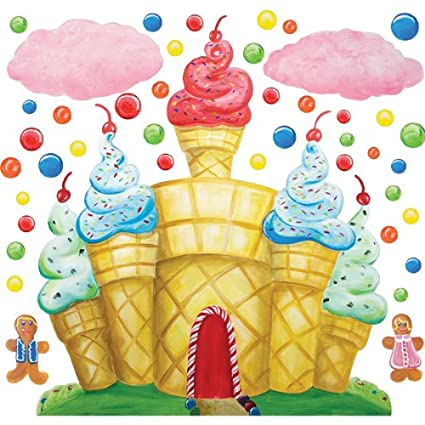 Amazon.com: Cotton Candy Land Castle Clouds Wall Decals: Home & Kitchen