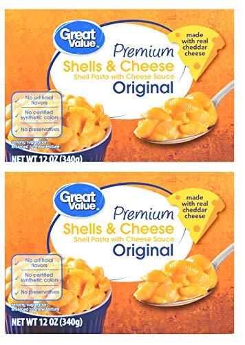 Premium Original Shells & Cheese, 12 oz (2 Pack) Great Value
