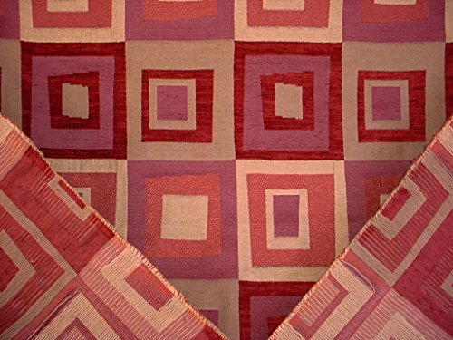 314H5 - Sienna Red / Light Gold Kilim / Southwest Chenille Designer Upholstery Drapery Fabric - By the Yard ()