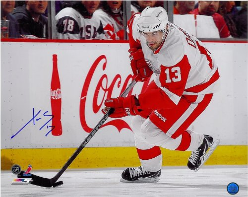 Pavel Datsyuk Autographed Detroit Red Wings 8x10 Photo #2 - Skating