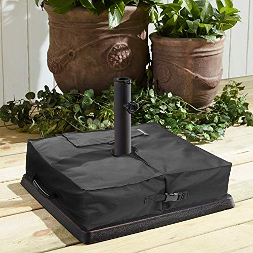 Explore Land Umbrella Stand Sand Bag 18 x 18 x 6 inches, Banner Cross Base up to 88 lb of Sand (Base Patio Lb Umbrella 75)