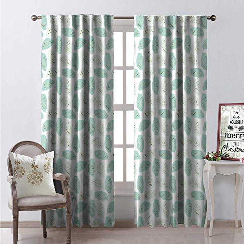 - Hengshu Geometric Window Curtain Fabric Pastel Colored Shapes Pattern Golden Yellow Paint Drippings Drapes for Living Room W84 x L96 Mint Green Almond Green Yellow