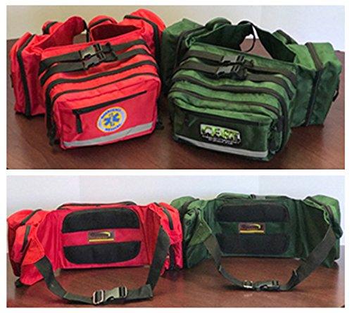 Survival Multi-Pocket Travel Waistpack CERT in Green by SEBA CAP