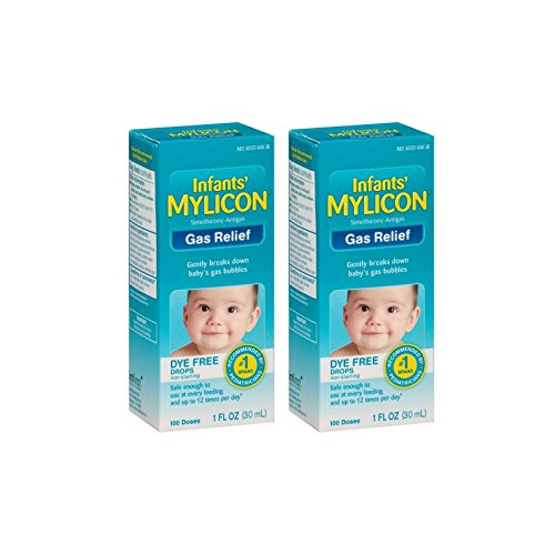 Mylicon Infants' Dye Free Gas Relief 100 Doses, 1 Fl Oz - 2 Boxes
